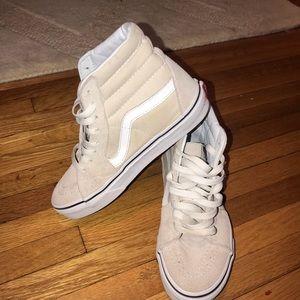 Vans Shoes - cream suede high top vans